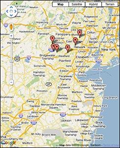 Park Index Map Screenshot